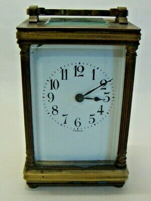 Early 20th century brass cased carriage clock made in France.