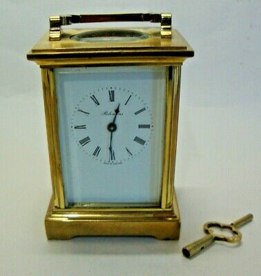 Mid 20th century brass cased carriage clock by ROBINSONS MADE IN ENGLAND