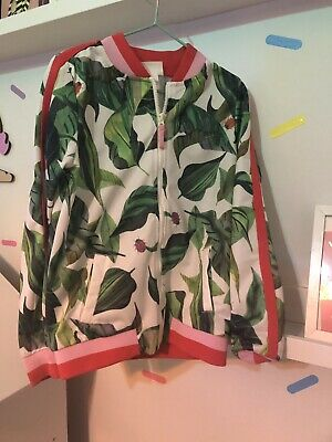 Michelle Mornin X H&M Tracksuit Top Jacket Leaf Print 6-7 7-8 Ladybird