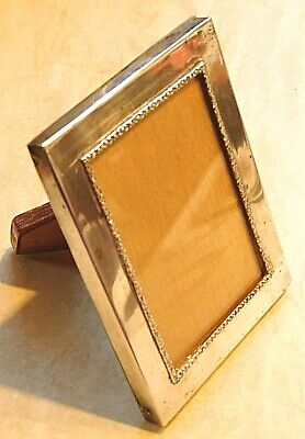 Lovely Antique Silver Plated (Solid Silver??) Photo Frame with Wooden Back