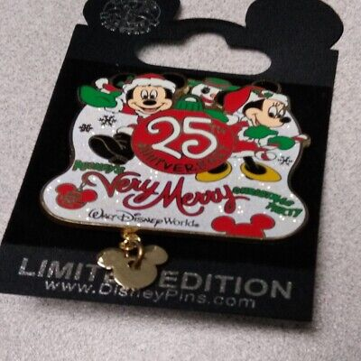 WDW - Mickey's Very Merry Christmas Party 2008 - 25th Anniversary Pin #66333
