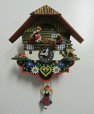 Hermle Quartz 2200 Swing Teter Totter Cuckoo Style Clock Made In Germany