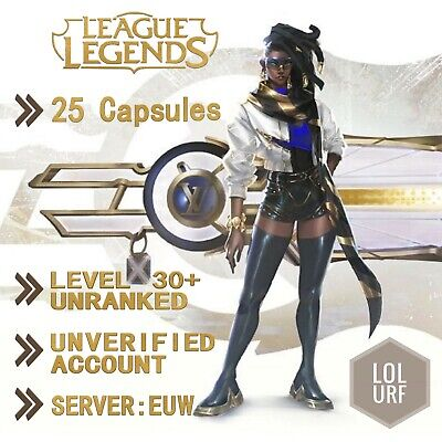 League Of Legends Account LOL Euw Smurf 25 Capsules BE IP Unranked Level 30
