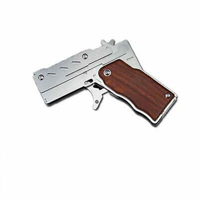 Hot Classic Folding Stainless Steel Rubber Band Gun Semi-Automatic Portable Toy