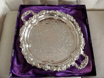 superb vintage Ranleigh Australian silver plated handled footed serving tray