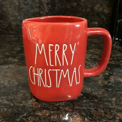 Rae Dunn MERRY CHRISTMAS Red LL Large Letter Farmhouse Holiday Mug By Magenta