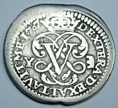 1707 Spanish Silver 1 Reales Piece of 8 Real Colonial Era Pirate Treasure Coin