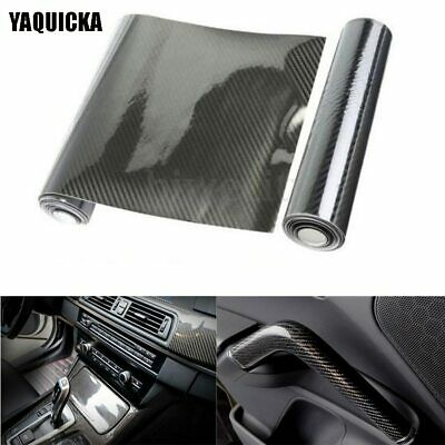 5D Glossy Car Bike Body Carbon Fiber Vinyl Wrap Film Decal Sticker Wrapping Roll