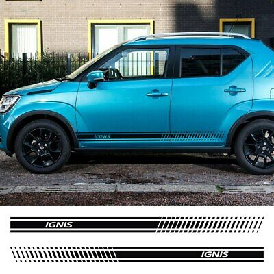 Car Door Side Skirt Graphic Stripe Sticker Vinyl Decal Film For Suzuki Ignis