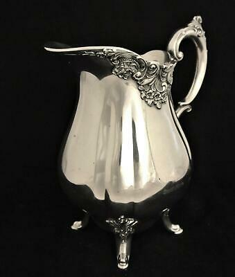 Vintage Silver Plate Wallace Baroque Rococo Design Water Pitcher Ice Tea Pitcher