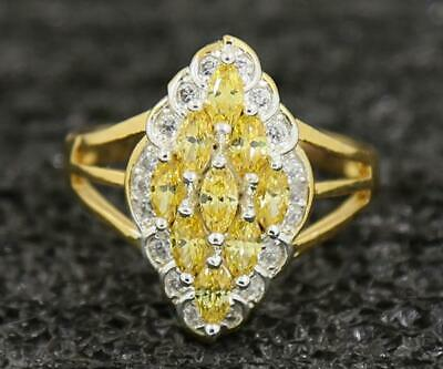 Mens Jewelry 2.11Carat Yellow Diamond Rings 14kt  Solid Yellow Gold Size 8.5#
