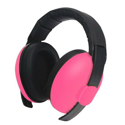 Kid's Anti Noise Earmuffs Noise Reduction Sleep Protectors Muff Rose Red