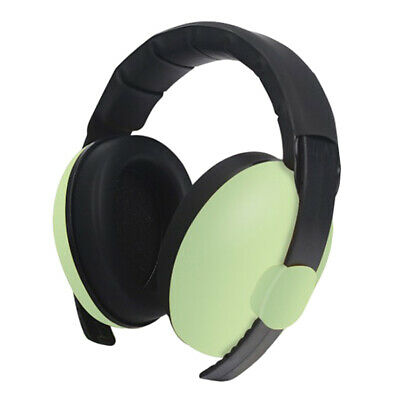 Kids Anti Noise Earmuffs Folding Ear Defenders Protectors Muff Light Green