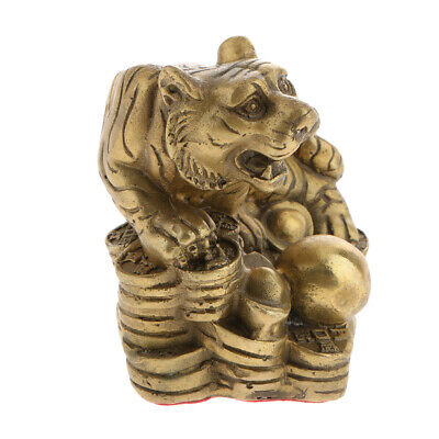 Solid Brass Fengshui Ornaments Statue Luck Wealth Money Zodiac Animal Tiger
