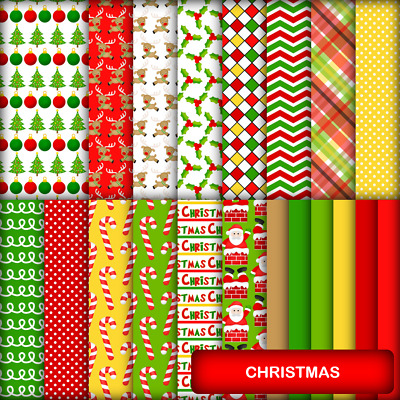 CHRISTMAS SCRAPBOOK PAPER - 20 x A4 pages