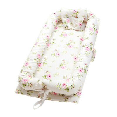Baby Nest Floral Baby Bassinet for Bed/ Lounger/ Nest/ Pod/ Cot Bed/Sleeping