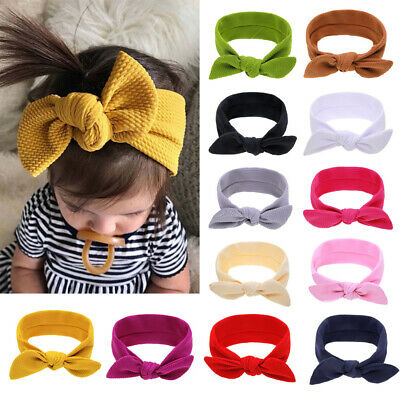 Cute Baby Girl Headbands Infant Knotted Turban Newborn Hair Bands Soft Headwrap