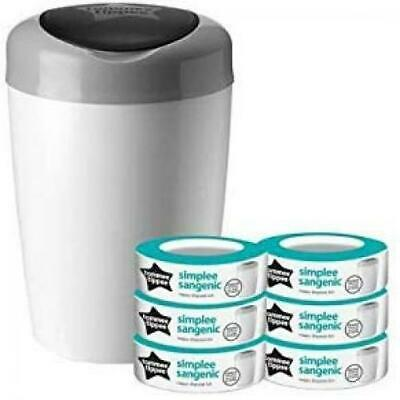 tommee tippee Poubelle à Couches Sangenic Simplee, Protection Anti-Odeur Et...