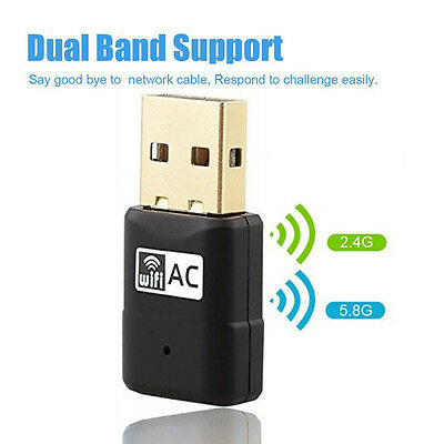 600Mbps Dual Band USB WiFi Wireless Adapter 802.11ac//a//b//g//n 2.4//5.8gGhz Dongle