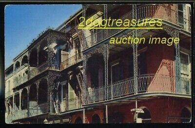 NEW ORLEANS LA ST.PETER ST Lace IRON BALCONIES OLD LOUISIANA