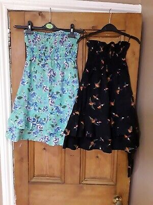 Girls Next Casual Green & Black Strapless Dresses X 2 Age 12 Years