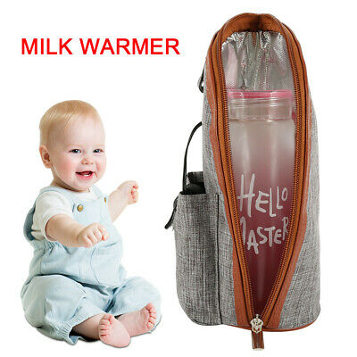USB Baby Bottle Warmer Heater Insulated Bag Travel Cup Milk Thermostat Portable