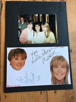 Linda Robson & Pauline Quirke autographs
