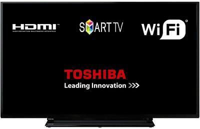 "Toshiba 40L2863DBT 40"" Smart D-LED TV Full HD WLAN With Freeview Play HDMI USB"