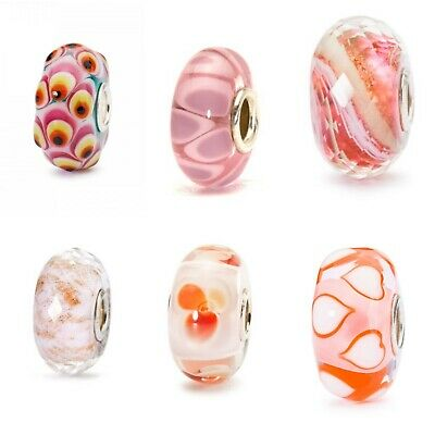 *REDUCED* Brand New Trollbeads - Pink Orange Red White Pearl Yellow Purple