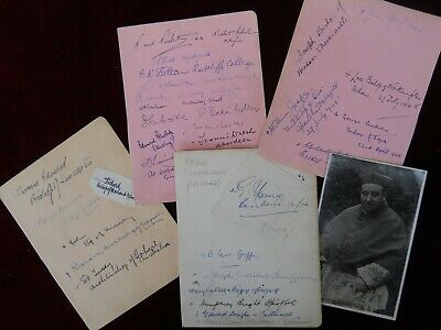 Collection of 48 Autographs of Important Churchmen & Scholars, 1920s to 1940s