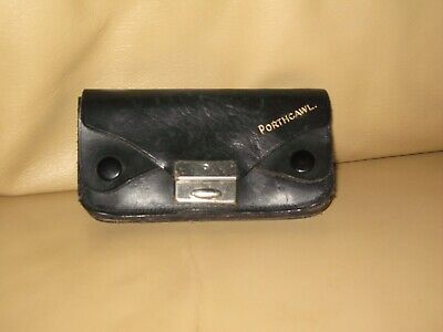 Vintage Coin Purse Black With 5 Pockets  Porthcawl On Front ? Leather