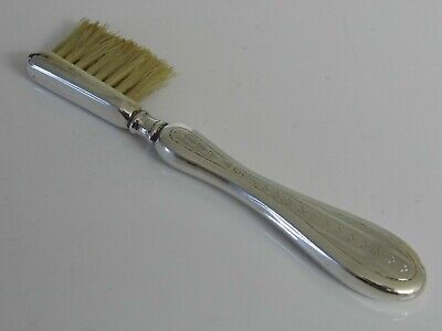 Antique Hallmarked 1910 Solid Sterling Silver English Moustache Brush Comb