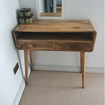 Narrow Hall Console Table Vintage Retro Hall Table With Drawers Small Solid Wood