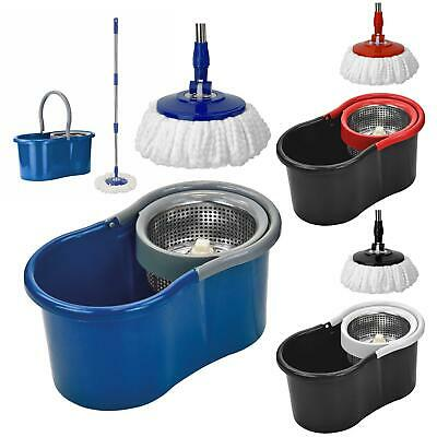360 Degrees Rotating Spinning Spin Mop Bucket Set Adjustable Handle Cleaner