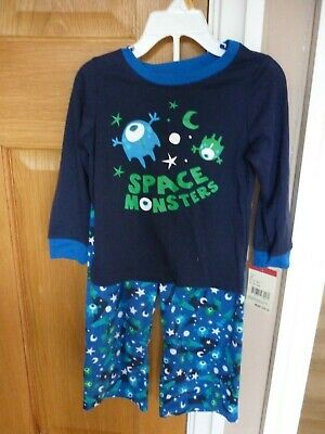 Bnwt Osh Kosh Toddler Boys Pyjamas With Microfleece Bottoms Age 3T