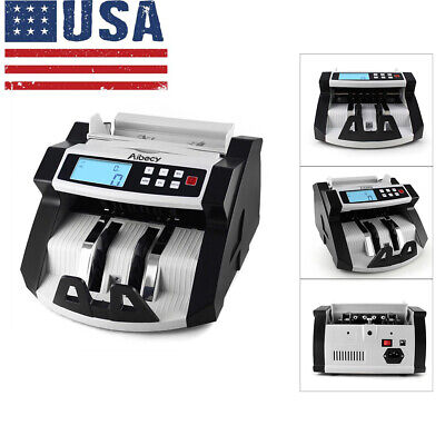 Aibecy Automatic Multi-Currency Cash Money Bill Counter Counting Machine E6P4