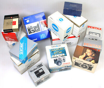 Photographic Camera   Lens Boxes, Empty - Lot of 15