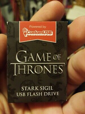 Game Of Thrones HBO House Stark Sigil 4 GB USB Flash Drive Loot Crate (NEW)