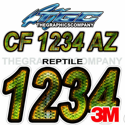 Leaf Camo Custom Boat Registration Numbers Decals Vinyl Lettering Stickers USCG