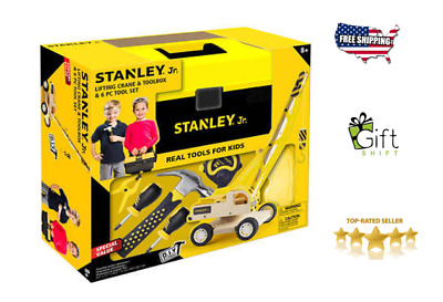 "Stanley Jr. Toolbox Set, Toolbox With Real ""Kid-Sized"" Tools"