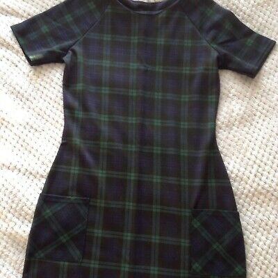 Age 14 years girl dress black & green Xmas tunic party outfit New Look