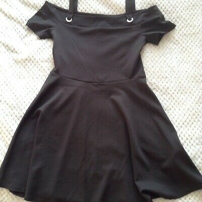 Age 14-15 years girl dress black skater Xmas party outfit New Look