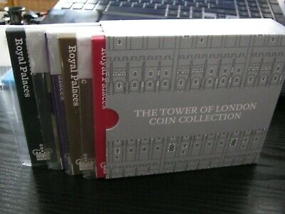 2019 Royal Mint £5 UK Coin Collection(4 coins) - The Tower Of London - In Holder