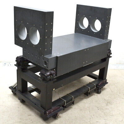 Black Granite Lab Anti-Vibration Table Plate Stage w/ Threaded Inserts and Cart