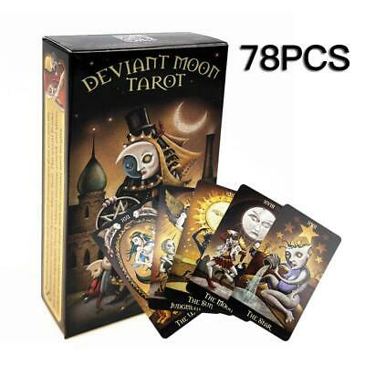 78PCS Deviant Moon Tarot Cards Deck Read Future Board Game Full English Version