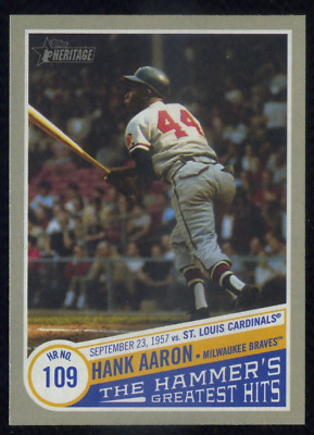 HANK AARON 2019 Topps Heritage High Number The Hammer's Greatest Hits THGH-2