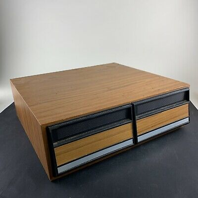VHS Tape Holder - 24 Tape Capacity - Vintage FAUX Wood - 2 Drawers