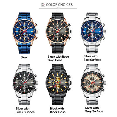 Curren Men Businiess Watch Fashion Classic Alloy Case Quartz MaleWristwatch R6H6