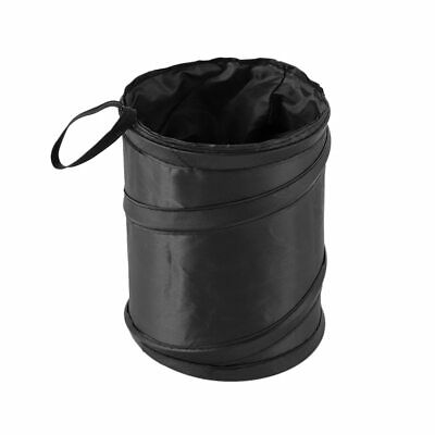 Black Car Bin Foldable Travel Rubbish Waste Litter Basket Pop Up Tidy Bag