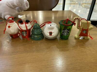Starbucks Japan Holiday 2019 Ornament New Full 6 Set Christmas Limited
